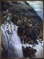 Surikov, Vasili Ivanovich - March of Suvorov through the Alps in 1799
