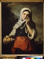 Murillo, Bartolomé Estebàn - Girl Selling Fruit