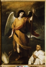Murillo, Bartolomé Estebàn - Archangel Raphael with Bishop Domonte