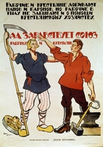 Apsit, Alexander Petrovich - Peasants and Workers - Unite Against Priests and Barons..