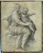Parmigianino - Madonna and Child on the Clouds