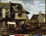 Rousseau, Théodore - Market-Place in the Normandy