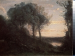 Corot, Jean-Baptiste Camille - Evening