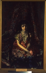 Vrubel, Mikhail Alexandrovich - A girl before a persian carpet