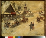 Korovin, Konstantin Alexeyevich - Russia. A country celebration