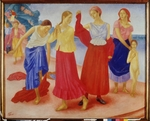 Petrov-Vodkin, Kuzma Sergeyevich - Young Women on the Volga