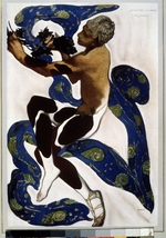 Bakst, Léon - Faun. Costume design for the ballet The Afternoon of a Faun by C. Debussy