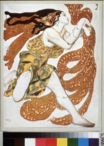 Bakst, Léon - Bacchante. Costume design for the ballet Narcisse by N. Tcherepnin