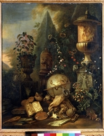 Withoos, Matthias - Vanitas. Still life with a Vase