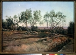 Ivanov, Alexander Andreyevich - Olive trees near the graveyard in Albano