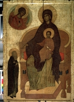 Russian icon - The Apparition of Our Lady to Saint Sergius of Radonezh