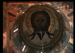 Ancient Russian frescos - The Holy Face (Dome painting in the Archangel Michael Cathedral of the Moscow Kremlin)