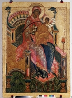 Russian icon - The Virgin The Mountain torn out not by Hands