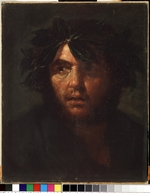 Rosa, Salvatore - Male portrait with a laurel wreath
