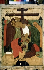 Russian icon - The Descent from the Cross