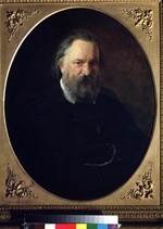 Ge, Nikolai Nikolayevich - Portrait of the author Alexander Herzen (1812-1870)