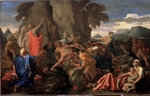 Poussin, Nicolas - Moses Striking Water from the Rock