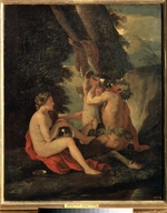 Poussin, Nicolas - Satyr and Nymph