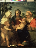Andrea del Sarto - Virgin and Child with Saints Catherine, Elisabeth and John the Baptist