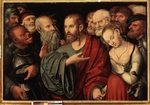 Cranach, Lucas, the Younger - Christ and the Woman Taken in Adultery