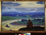 Roerich, Nicholas - Procopius the Blessed Prays for the Unknown Travelers