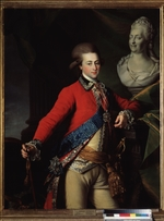 Levitsky, Dmitri Grigorievich - Portrait of the palace-aide-de-camp Alexander Lanskoy, the Catherine II' favorite