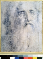 Beccafumi, Domenico - Study of an old Man's head with a beard