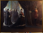 Ge, Nikolai Nikolayevich - Catherine II at the Coffin of Empress Elizabeth
