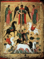 Russian icon - The Miracle of Florus and Laurus