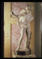 Art of Ancient Rome, Classical sculpture - Eros Stringing His Bow (Roman copy of Greek statue by Lysippus)