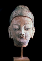 Central Asian Art - Head of Buddha (From the Ruins of old Idikutshari near Turfan)