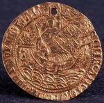 Numismatic, Russian coins - Coin (Korabelnik) of Tsar Ivan III (Reverse: Ruler on his ship)
