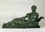 Classical Antiquities - Cinerary Urn in Form of a reclining Youth (Etruria)