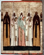 Russian icon - Saint Sergius of Radonezh with the Saints of Rostov