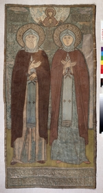 Russian master - Saints Peter and Fevronia of Murom (Ecclesiastical embroidery)