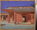 Vereshchagin, Vasili Vasilyevich - Courtyard of the Harem in the Fatehpur Sikri Imperial Palace
