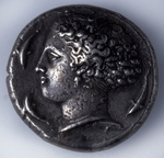 Numismatic, Ancient Coins - Tetradrachma from Syracuse (Obverse: a Godess with dolphins)