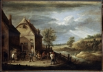 Teniers, David, the Younger - Landscape with Peasants Playing Bowls
