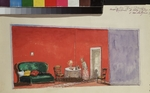 Petrov-Vodkin, Kuzma Sergeyevich - Stage design for the play The Brothers Karamazov by F. Dostoevsky
