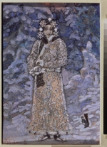 Vrubel, Mikhail Alexandrovich - Costume design for the opera Snow Maiden by N. Rimsky-Korsakov