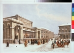 Arnout, Louis Jules - The new stock exchange and the Arcade in Moscow