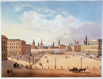 Jacottet, Louis Julien - The Theatre Square in Moscow