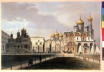 Arnout, Louis Jules - View of the Cathedrals in the Moscow Kremlin