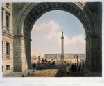 Arnout, Louis Jules - The Palace Square. View from the Arch of the Main Army Headquarters