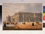 Perrot, Ferdinand Victor - View of the Winter Palace in Saint Petersburg