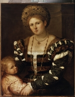 Bordone, Paris - Portrait of a Lady with a Boy