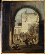 Guardi, Francesco - View of a Square and a Palace