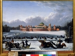 Golitsyn, A.A. - Sleigh Race at the Petrovsky Park in Moscow