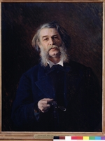 Kramskoi, Ivan Nikolayevich - Portrait of the author Dmitri Grigorovitch (1822-1899)