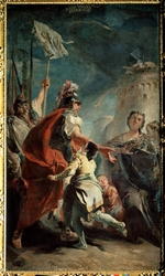 Tiepolo, Giambattista - Coriolanus Before the Gates of Rome (Veturia at the Feet of Coriolanus)